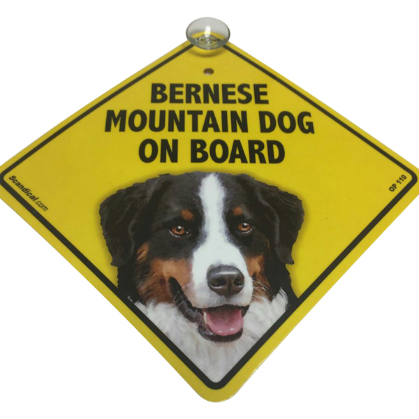 Bernese Mountain Dog on Board - Dog Sign
