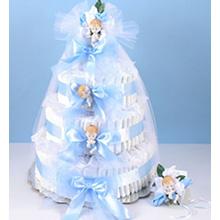 Deluxe Diaper Cake Delight Baby Boy Gift