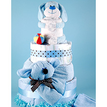 Puppy Pal Deluxe Diaper Cake Baby Gift