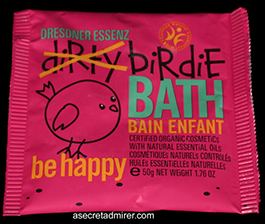 Pre de Provence Dresdner Essenz Dirty Birdie Bath Packet 50g-Be Happy (Rose & Vanilla Oils) Created Just For Kids - Certified Organic 1.76 oz