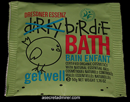 Pre de Provence Dresdner Essenz Dirty Birdie Bath Packet 50g-Get Well (Mint & Thyme Oils) Created Just For Kids - Certified Organic 1.76 oz