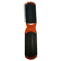Folding Hair Brush with Mirror (Color May Vary)