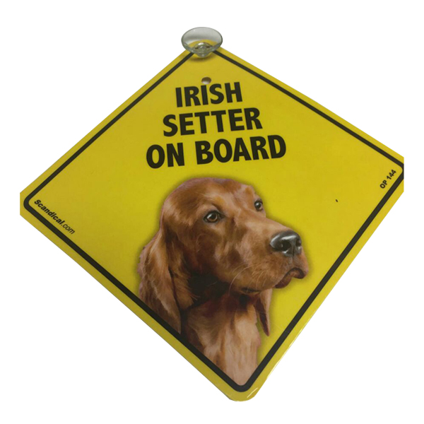 Irish Setter on Board - Dog Sign