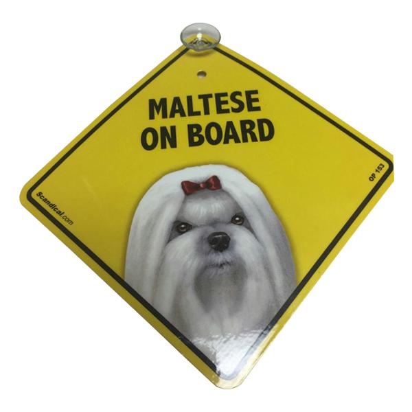 Maltese on Board - Dog Sign