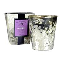 Pre de Provence Mercury Glass Lumiere Fragrant Candle Lavender 8oz