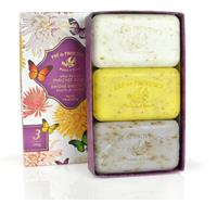 Pre De Provence Assorted Shea Butter Enriched Guest Soap Gift Set in Box 5.2 oz X 3