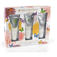 Pre de Provence Butterfly Gift Set Tubes Verbena, Natural and Lavender 3 X 1oz