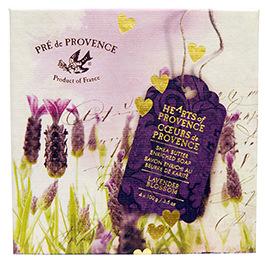 Pre de Provence Hearts Collection 4 Soaps Gift Box Luxury Box - 100g each - LAVENDER BLOSSOM 3.5 oz