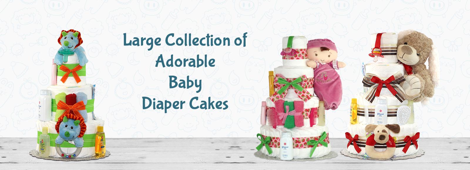 Adorable Baby Diaper Cake
