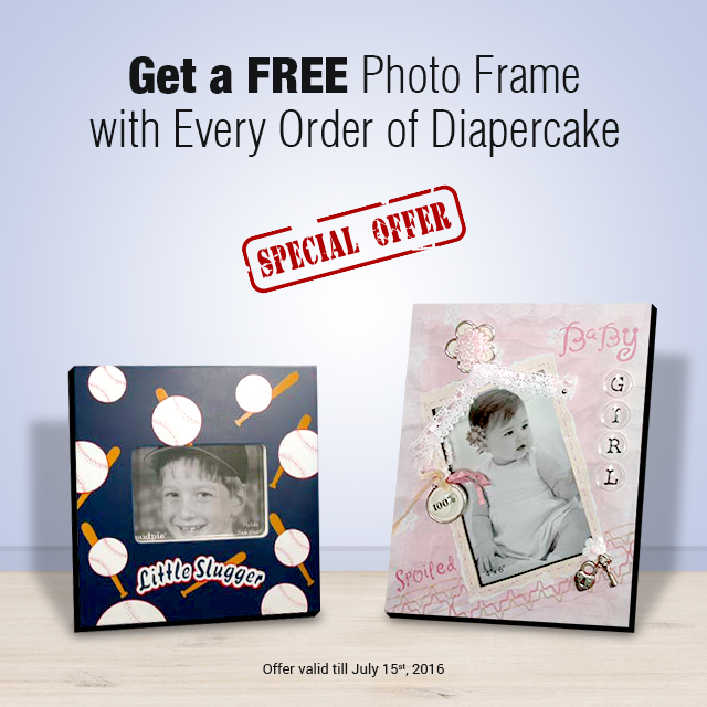 Get a Free Photo Frame With Every Order of Diapercake