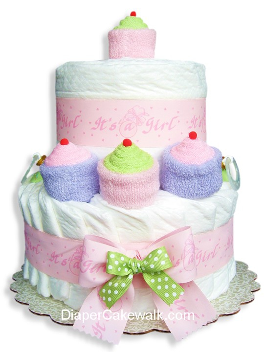 Its A Girl Mini Diaper Cake At Best Prices