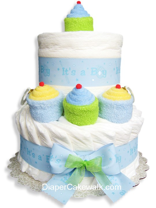 It S A Boy Mini Diaper Cake At Best Prices