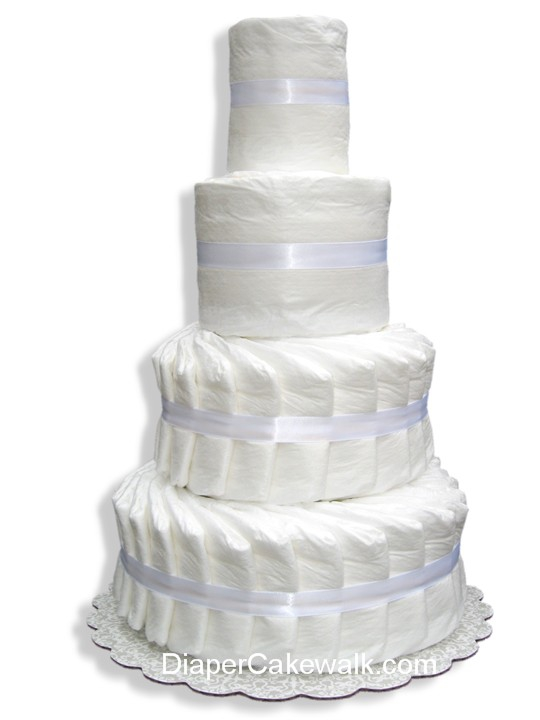 4 Tier Do It Yourself Diaper Cake At Best Prices