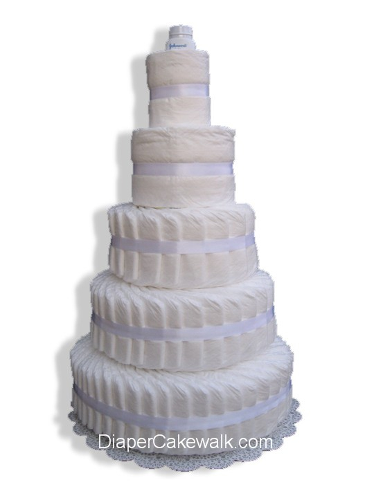 5 Tier Do It Yourself Diaper Cake At Best Prices