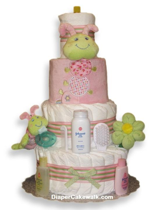 Cutsie Caterpillar Baby Girl Diaper Cake at Best Prices