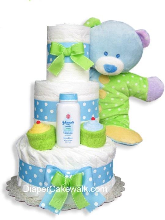 Monkey Baby Shower Gift Monkey Baby Gift Monkey Gift Boys Baby Gift Boys Baby  Cupcakes Gift Monkey Diaper Cake wCupcakes Baby Gift