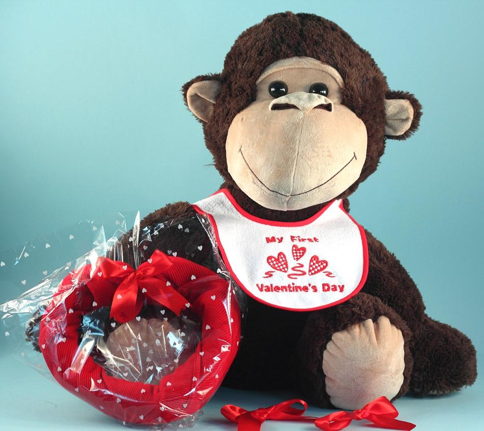 Giant Plush Monkey Valentine S Day Baby Gift Set