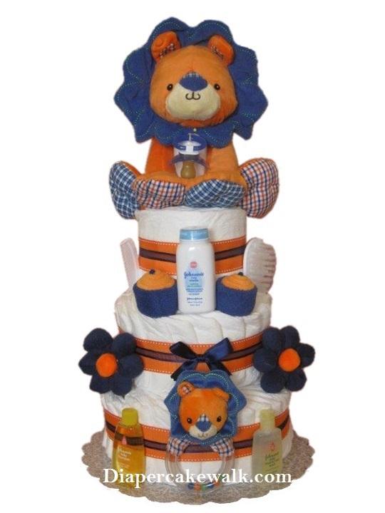 Baby Boy Safari King Lion Diaper Cake At Best Prices