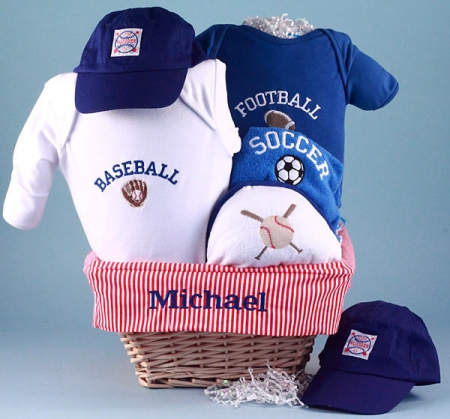 All Sports Personalized Baby Gift Basket At Best Prices