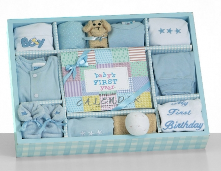 Baby S First Year Gift Set Boy At Best Prices