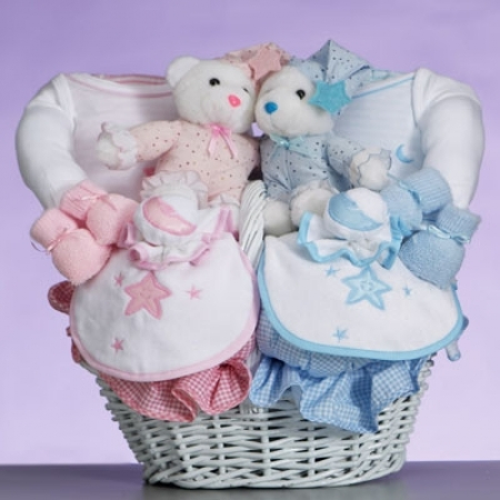Celestial Baby Gift Basket Gift For Twins