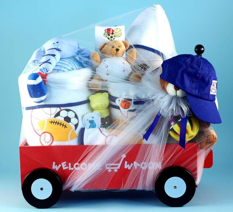 Deluxe Welcome Wagon Baby Boy Gift At Best Prices