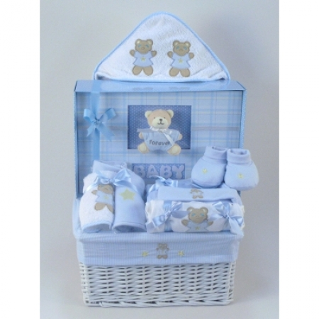 264d0f8cd653 Forever Baby Book   Layette Baby Gift Basket-Boy