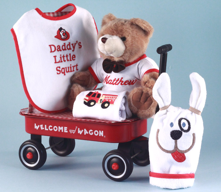 Little Squirt Welcome Wagon Personalized Baby Boy Gift