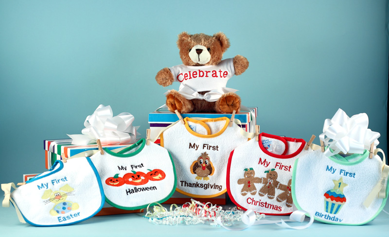 My First Holiday Bibs Amp Bear Baby Gift Set