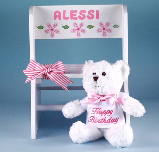 Personalized Step Stool First Birthday Gift Girl