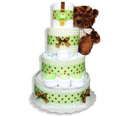 Neutral Sampler Baby Diaper Cake