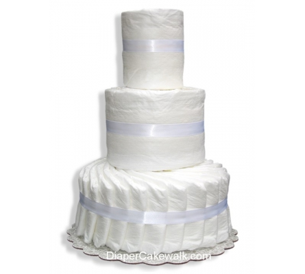 3 tier Do-It-Yourself Diaper Cake