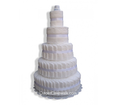 5 tier Do-It-Yourself Diaper Cake