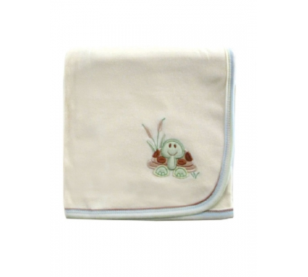 Nature Organic Interlock Receiving Blanket-Boy