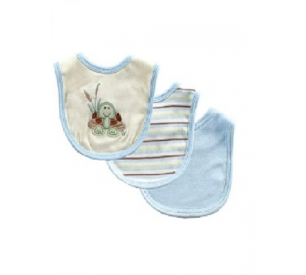 Touched by Nature Organic Bibs 3pk boy