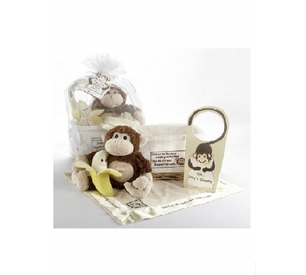 Five Little Monkeys Five-Piece Gift Set in Keepsake Basket