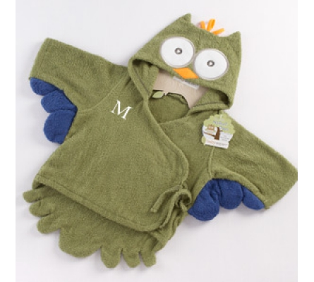 My Little Night Owl Hooded Terry Spa Robe (Green)