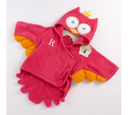 My Little Night Owl Hooded Terry Spa Robe (Pink)