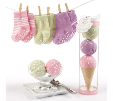 Sweet Feet Three Scoops of Socks Gift Set (Pink)