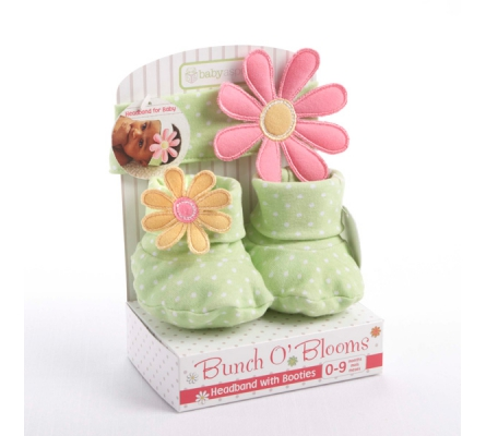Bunch O' Blooms Headband with Booties Gift Set
