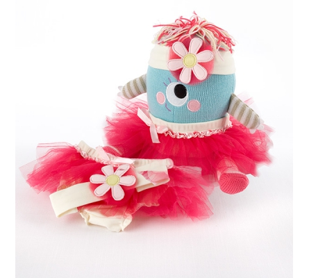 Clara the Closet Monster Baby Bloomers, Headband and Monster Plush Toy Gift Set