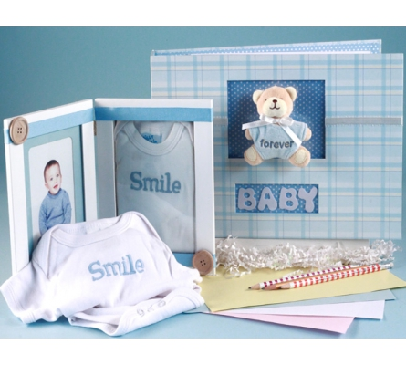 Keepsake Photo Album & Picture Frame Baby Gift Set