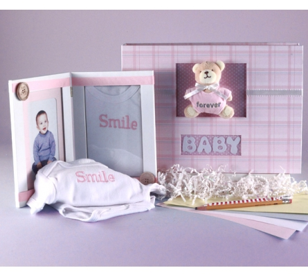 Keepsake Album & Photo Frame Baby Gift Set