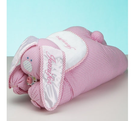 Snuggle Bunny Personalized Baby Blanket Baby Girl Gift