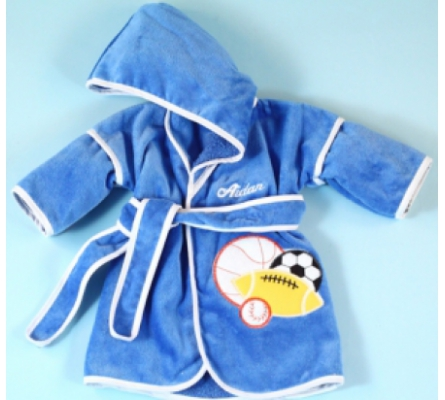 Sport Balls Hooded Cover-Up Personalized Baby Gift