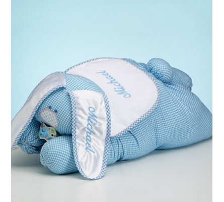 Snuggle Bunny Personalized Baby Blanket Gift for Baby Boy