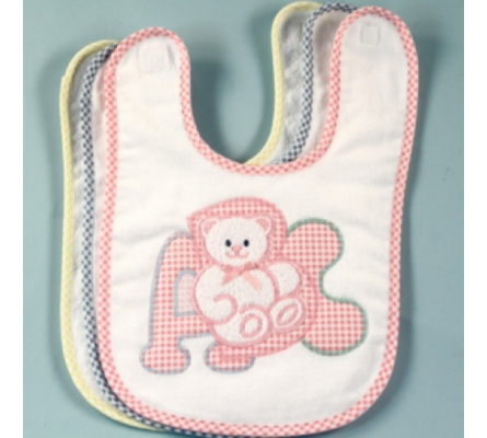 ABC Applique Bib