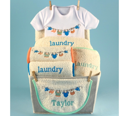 Baby Laundry Personalized Baby Basket