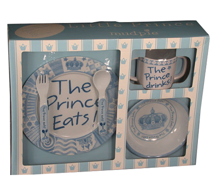Boy's Baby Gift - Melamine The Prince Eats Set