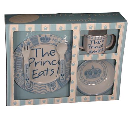 Boy's Baby Gift - Melamine The Prince Eats Set
